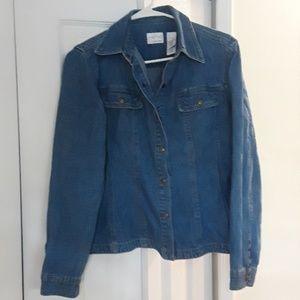 Thin blazer jean jacket